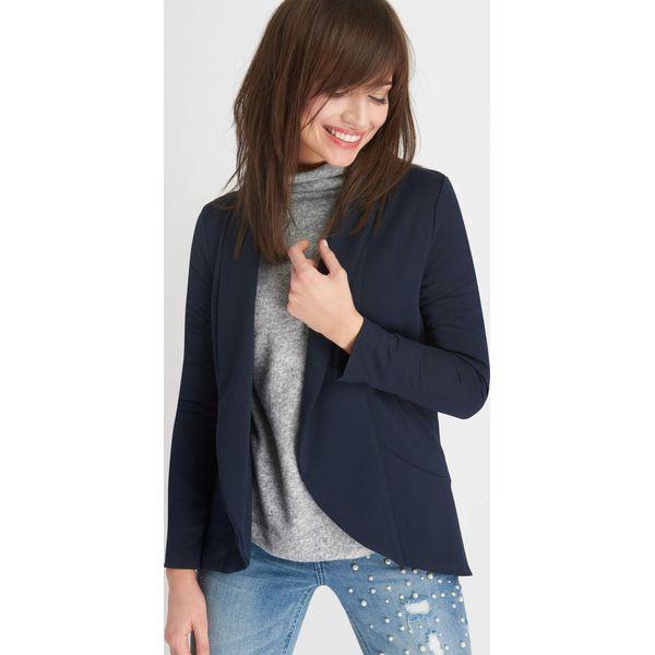 52881b9bcee33 Żakiet z luźnymi klapami - Żakiety damskie marki Orsay, z jeansu ...