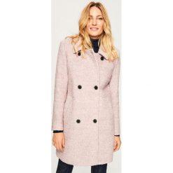 Płaszcz z domieszką wełny - Różowy. Czerwone płaszcze damskie Reserved, z wełny. Za 229.99 zł.