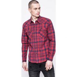 Levi's - Koszula. Brązowe koszule męskie Levi's, w kratkę, z bawełny, z klasycznym kołnierzykiem, z długim rękawem. W wyprzedaży za 149.90 zł.
