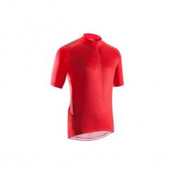 Koszulka na rower MTB ST 500 męska. Czerwone koszulki sportowe męskie ROCKRIDER, z elastanu. Za 79.99 zł.