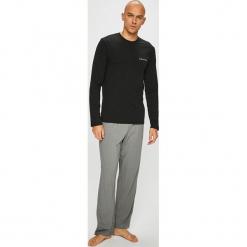 Calvin Klein Underwear - Piżama. Czarne piżamy męskie Calvin Klein Underwear, z nadrukiem, z bawełny. Za 329.90 zł.