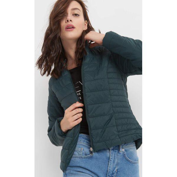f92ac9a7277b Taliowana kurtka pikowana - Szare kurtki damskie marki Orsay