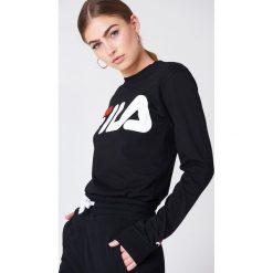 FILA T-shirt z długim rękawem Classic Logo - Black. Czarne t-shirty damskie Fila, z okrągłym kołnierzem. Za 141.95 zł.