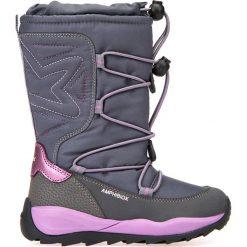 Kozaki GEOX J ORIZONT B GIRL ABX. Szare buty zimowe dziewczęce Gino Rossi. W wyprzedaży za 289.90 zł.