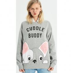 Bluza Cuddle buddy - Jasny szar. Szare bluzy damskie Sinsay. Za 49.99 zł.