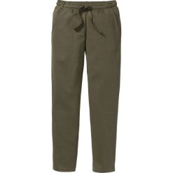 Spodnie sportowe bonprix ciemnooliwkowy. Spodnie sportowe męskie marki bonprix. Za 54.99 zł.