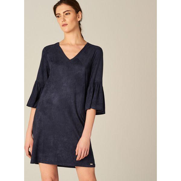 b45978c0ca Sukienka z rozkloszowanym rękawem - Niebieski - Sukienki damskie ...