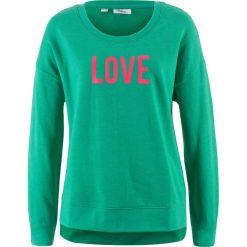 Bluza z nadrukiem bonprix szmaragdowy z nadrukiem. Zielone bluzy damskie bonprix, z nadrukiem. Za 27.99 zł.