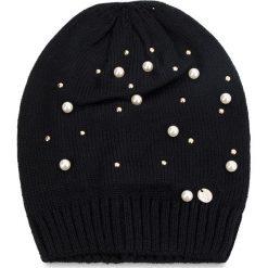 Czapka LIU JO - Cappello Maglia Perl N68251 M0300 Nero 22222. Czarne czapki i kapelusze damskie Liu Jo, z materiału. Za 199.00 zł.