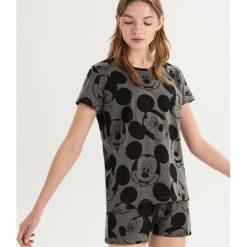 Dwuczęściowa piżama Mickey Mouse - Szary. Szare piżamy damskie Sinsay, z motywem z bajki. Za 49.99 zł.