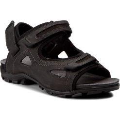 Sandały WOJAS - 7300-51 Czarny/Popiel. Czarne sandały męskie Wojas, z materiału. W wyprzedaży za 219.00 zł.
