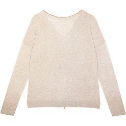 Sweter jedwabny w kolorze beżowym. Brązowe kardigany damskie Ateliers de la Maille, z jedwabiu. W wyprzedaży za 318.95 zł.