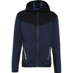 Superdry GYM TECH BLOCKED ZIPHOOD Bluza rozpinana midnight navy marl/black. Bluzy męskie Superdry., z bawełny. Za 429.00 zł.