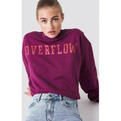 NA-KD Bluza Overflow - Red. Czerwone bluzy damskie NA-KD, z nadrukiem. Za 141.95 zł.
