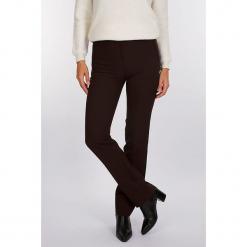 """Spodnie """"Soul"""" w kolorze brązowym. Brązowe spodnie materiałowe damskie Scottage, w paski. W wyprzedaży za 99.95 zł."""
