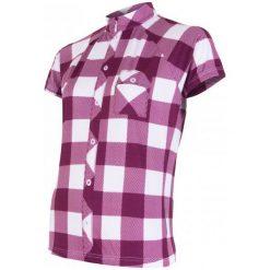 Sensor Damska Koszulka Rowerowa Cyklo Square Purple. Fioletowe koszulki sportowe damskie Sensor, z gumy, z krótkim rękawem. Za 179.00 zł.