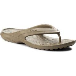 Japonki CROCS - Classic Flip 202635 Khaki. Brązowe klapki damskie Crocs, z tworzywa sztucznego. Za 89.00 zł.