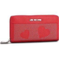Duży Portfel Damski LOVE MOSCHINO - JC5562PP16LT0500 Rosso. Czerwone portfele damskie Love Moschino, ze skóry ekologicznej. W wyprzedaży za 339.00 zł.