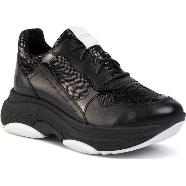 Sneakersy GINO ROSSI RST ARA 08 Black Czarne półbuty