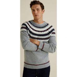 Mango Man - Sweter Mars. Szare swetry przez głowę męskie Mango Man, z dzianiny, z okrągłym kołnierzem. Za 199.90 zł.