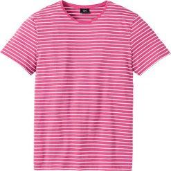 T-shirt  w paski bonprix różowo-biały. Czerwone t-shirty męskie bonprix, na lato, w paski. Za 21.99 zł.