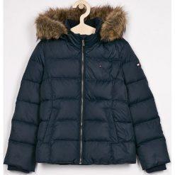 Tommy Hilfiger - Kurtka puchowa dziecięca 128-176 cm. Czarne kurtki i płaszcze dla dziewczynek Tommy Hilfiger, z elastanu. Za 749.90 zł.