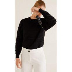 Mango - Sweter Tubit. Szare swetry damskie Mango, z dzianiny, z okrągłym kołnierzem. Za 119.90 zł.