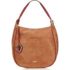 Torebka damska 87-4Y-750-5. Brązowe torebki shopper damskie Wittchen, w geometryczne wzory. Za 269.00 zł.