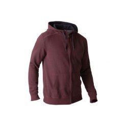 Bluza na zamek z kapturem Gym & Pilates 900 męska. Czerwone bluzy męskie DOMYOS. W wyprzedaży za 64.99 zł.