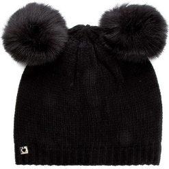 Czapka TWINSET - Cuffia AA7P3B  Nero 00006. Czarne czapki i kapelusze damskie Twinset, z materiału. W wyprzedaży za 199.00 zł.