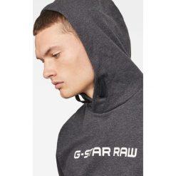G-Star Raw - Bluza. Czarne bluzy męskie G-Star Raw, z nadrukiem, z bawełny. Za 399.90 zł.