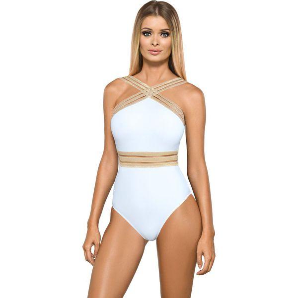 8f8d0ea4f98665 Lorin - Strój kąpielowy - Białe kostiumy jednoczęściowe damskie ...