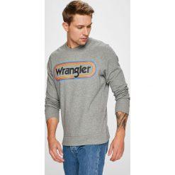 Wrangler - Bluza. Szare bluzy męskie Wrangler, z nadrukiem, z bawełny. Za 219.90 zł.