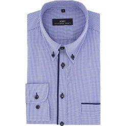 Koszula  BIAGIO slim 16-01-30-K. Niebieskie koszule męskie Giacomo Conti, w kratkę, z bawełny, button down, z długim rękawem. Za 149.00 zł.