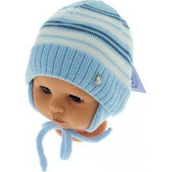 Czapka niemowlęca podszyta bawełną cz-059C niebieska. Czapki dla dzieci marki Reserved. Za 29.56 zł.