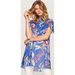 Koszula w kwiaty - Niebieski. Niebieskie koszule damskie Reserved, w kwiaty. Za 69.99 zł.