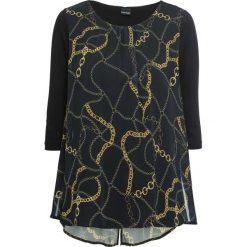 Tunika shirtowa bonprix czarno-żółty wzorzysty. Tuniki damskie marki bonprix. Za 109.99 zł.