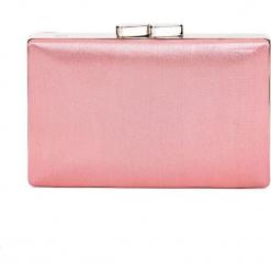 Różowa torebka puzderko QUIOSQUE. Czerwone torebki do ręki damskie QUIOSQUE, z satyny. Za 99.99 zł.