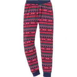 Spodnie piżamowe bonprix ciemnoniebieski wzorzysty. Niebieskie piżamy damskie bonprix. Za 44.99 zł.