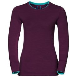 Odlo Koszulka Shirt l/s crew neck NATURAL 100% MERINO fioletowa r. S (110411). T-shirty damskie Odlo. Za 238.18 zł.