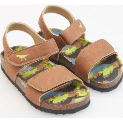 Sandały z dinozaurem - Brązowy. Sandały chłopięce Reserved. Za 59.99 zł.