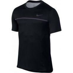 Nike Męska Koszulka Challenger Crew Black Gridiron Black L. Czarne koszulki sportowe męskie Nike. Za 215.00 zł.