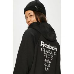 Reebok Classic - Bluza. Czarne bluzy damskie Reebok Classic, z nadrukiem, z bawełny. W wyprzedaży za 219.90 zł.
