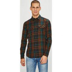 Wrangler - Koszula. Czarne koszule męskie Wrangler, w kratkę, z bawełny, z klasycznym kołnierzykiem, z długim rękawem. Za 239.90 zł.