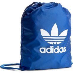 Plecak adidas - Gymsack Trefoil BJ8358 Blue. Niebieskie plecaki damskie Adidas, z materiału, sportowe. Za 54.95 zł.