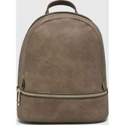 Answear - Plecak. Brązowe plecaki damskie ANSWEAR, ze skóry ekologicznej. W wyprzedaży za 79.90 zł.