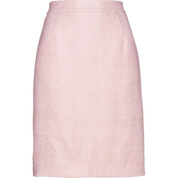 3ad2411c Spódnica z krepy z połyskiem bonprix pastelowy jasnoróżowy