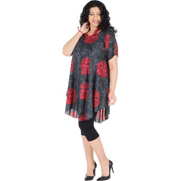 84fc7db30a09c7 Sukienka w kolorze szaro-czerwonym - Sukienki damskie marki Aller ...