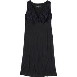 Koszula nocna z wiskozy bonprix czarny. Czarne koszule nocne damskie bonprix, z wiskozy. Za 49.99 zł.