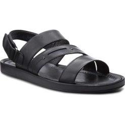 Sandały KRISBUT - 1157-1-1 Czarny. Czarne sandały męskie Krisbut, ze skóry. W wyprzedaży za 169.00 zł.